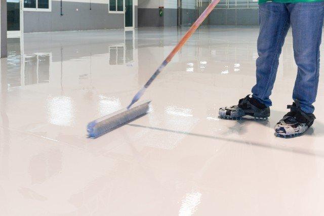 proses finishing lantai epoxy